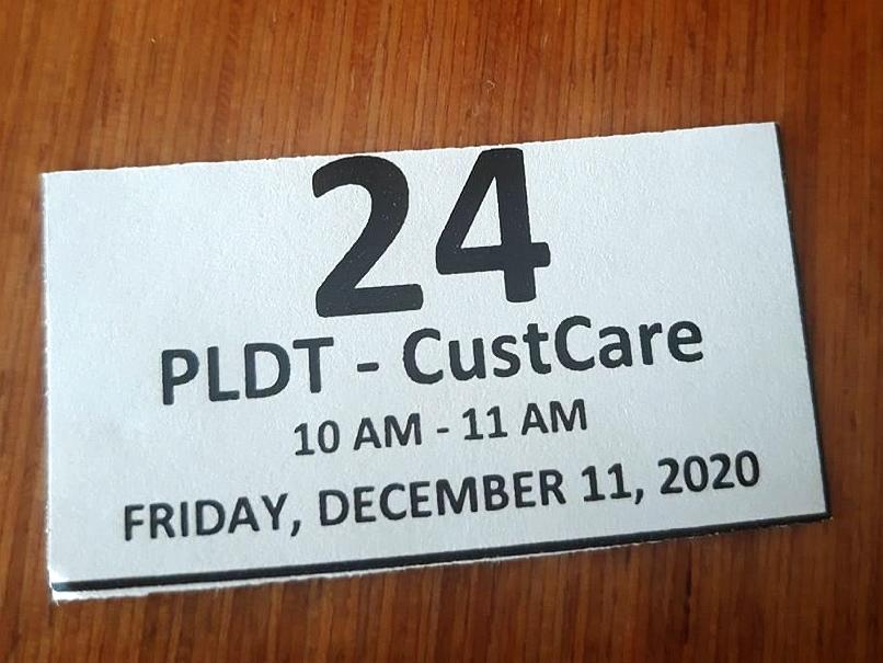 PLDTのお客様整理券