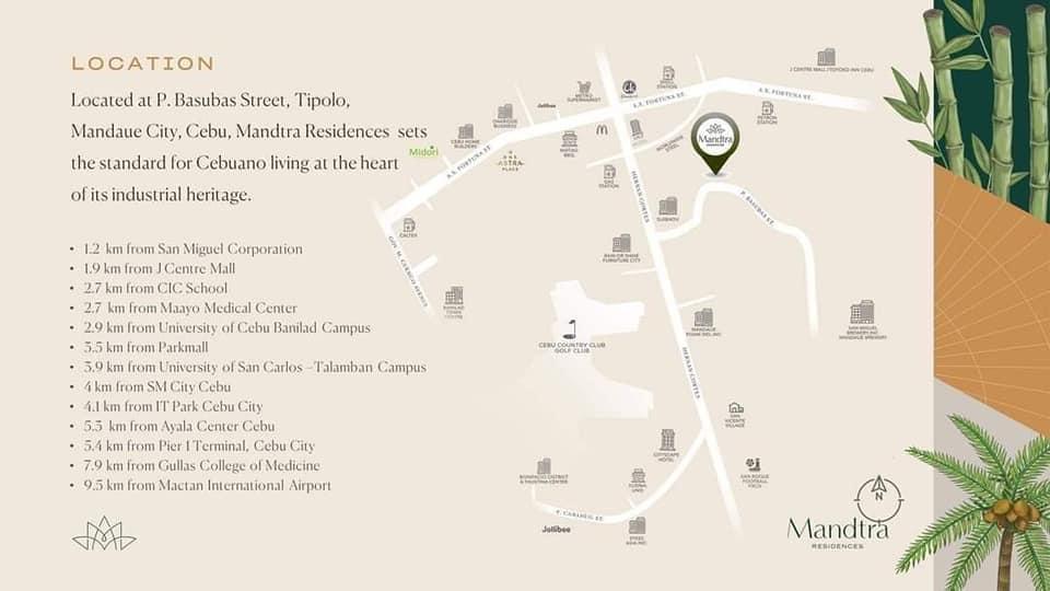 Mandtraの建設予定地&周辺施設
