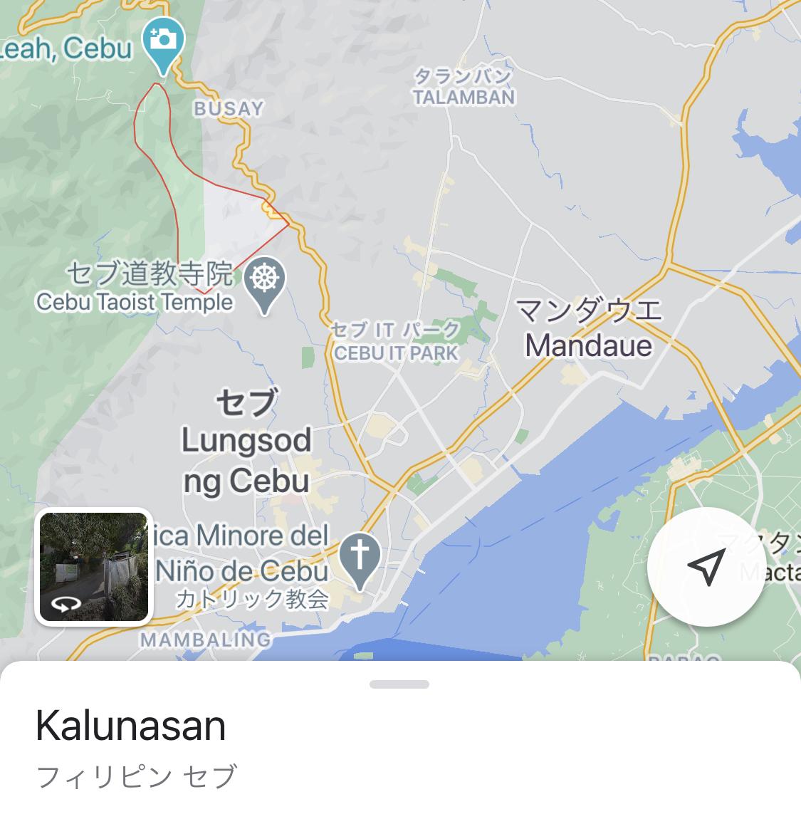 赤枠で囲まれたエリアがKalunasan!