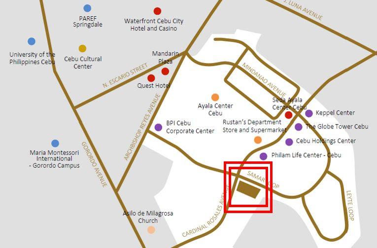 Lucimaのロケーション: アヤラセンターの対角線上に建設中!